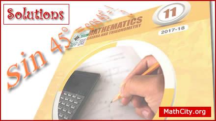 FSc Part 1 Solutions [MathCity org]