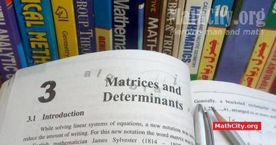 Chapter 03: Matrices and Determinants [MathCity org]
