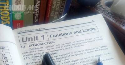Unit 01: Functions and Limits